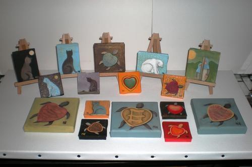 Mini tableaux sur chevalets