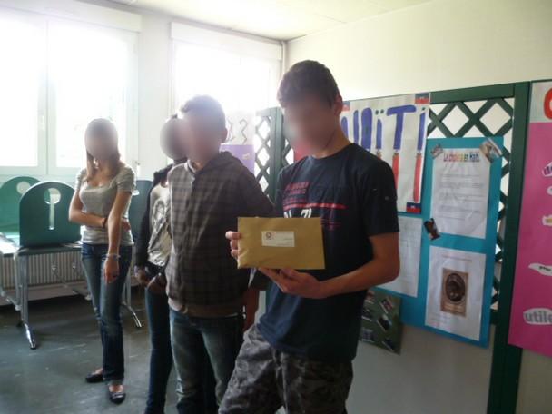Don par les élèves du collège de Dijon