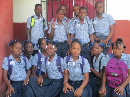 Elèves du lycée Guy Malary