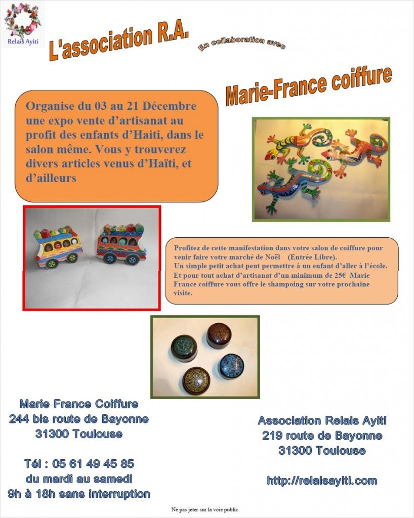 Expo vente chez Marie France Coiffure Toulouse