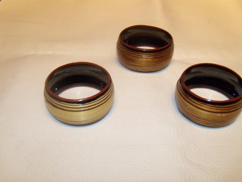Bracelets bois et laqué