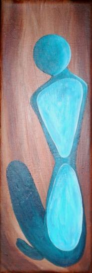 Sculpture bleue, acrylique