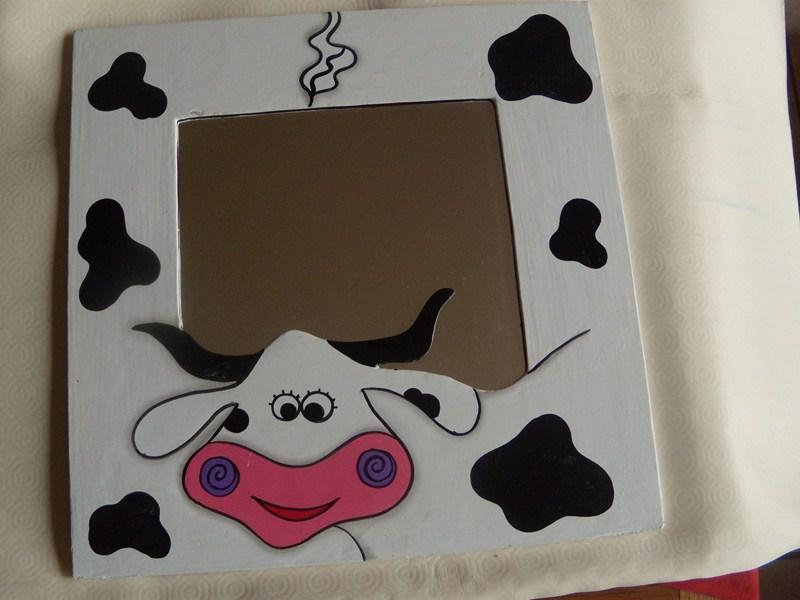Miroire Vache  carré
