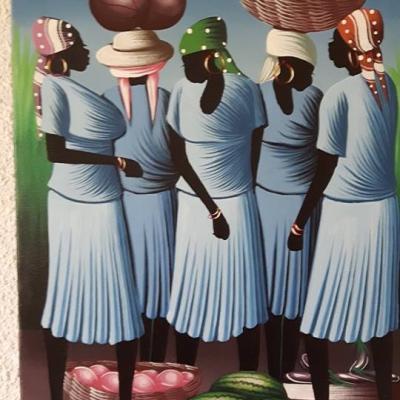 Tableau haïtien personnages